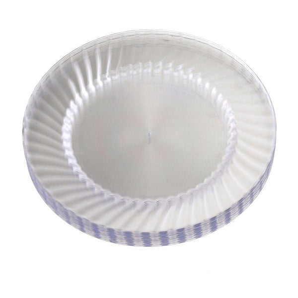 12-Pack, Clear Plastic Round Plates, 9-Inch,12-Piece
