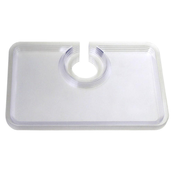 12-Pack, Clear Plastic Plates with Cup Holder, 8-Inch,12-Piece