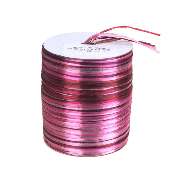 Rayon Raffia Multi-Color Roll, 5mm, 54 Yards, Cerise