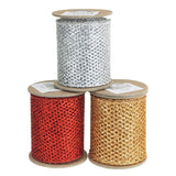 12-Pack, Metalllic Mesh Glitter Ribbon, 3-Inch, 5 Yards