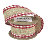 12-Pack, Picnic Burlap Wired Edge Ribbon, 1-1/2-Inch, 5 Yards