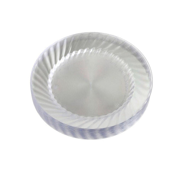 Clear Plastic Round Plates, 6-Inch,12-Piece
