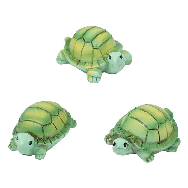Mini Turtle Resin Figurines, Assorted Sizes, 3-Piece