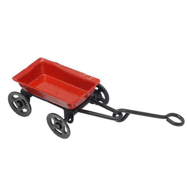 Mini Wagon Metal Figurine, Red, 2-1/4-Inch