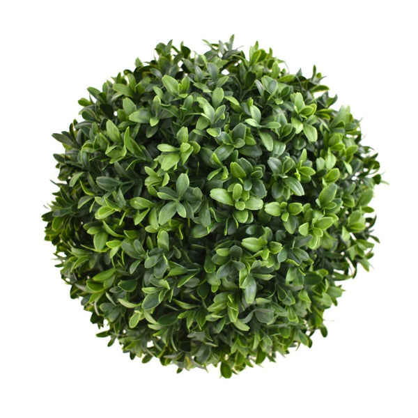 12-Pack, Synthetic Boxwood Plant Ball, Green, 10-Inch