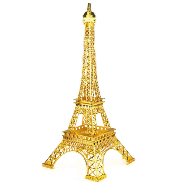 12-Pack, Metal Eiffel Tower Paris France Souvenir, 20-inch, Gold