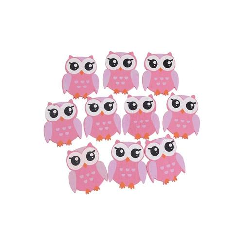 12-Pack, Small Animal Wooden Baby Favors, 1-1/4-Inch