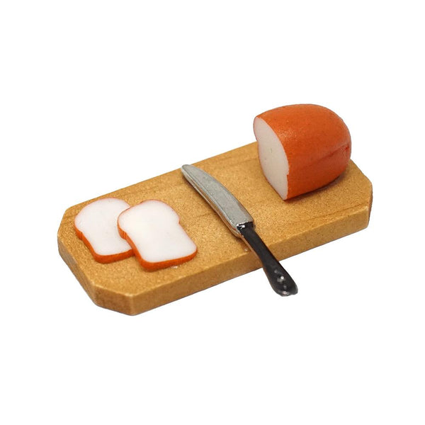Miniature Bread & Knife Figurine Set, 1-1/8-Inch