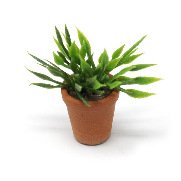 Miniature House Plant Figurine, Green, 1-1/2-Inch
