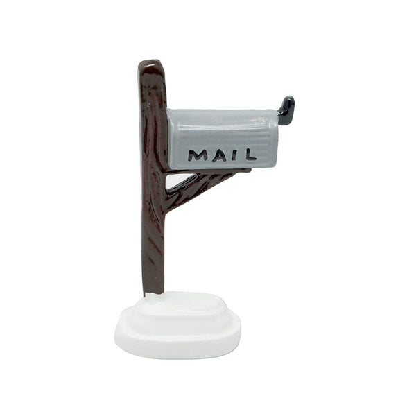 Miniature Wooden Mailbox, Silver,  2-1/2-Inch