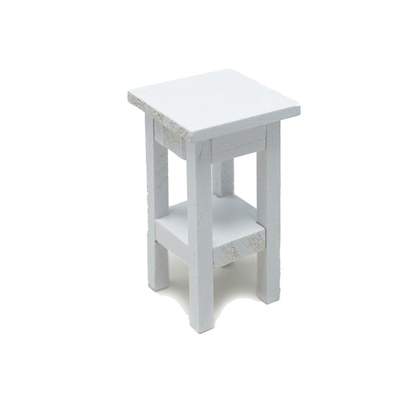 Miniature Side Stand Furniture, White, 2-1/4-Inch