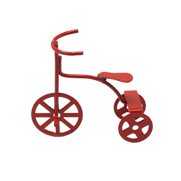 Miniature Classic Tricycle Figurine, Red, 1-7/8-Inch