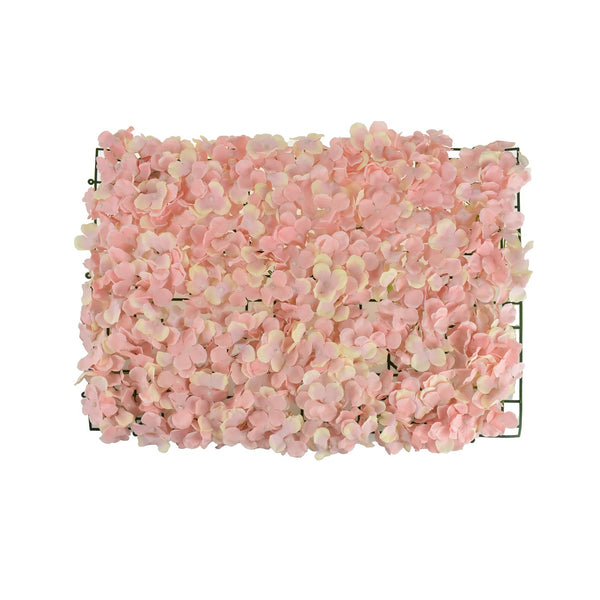 Artificial Hydrangea Flower Mat, 24-Inch, Blush