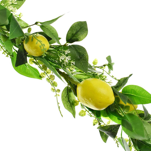 Artificial Lemon Garland, 5-Feet