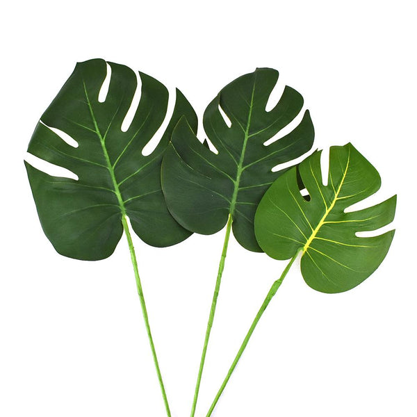 Artificial Monstera Leaf Bundle, 17-Inch, 6-Piece