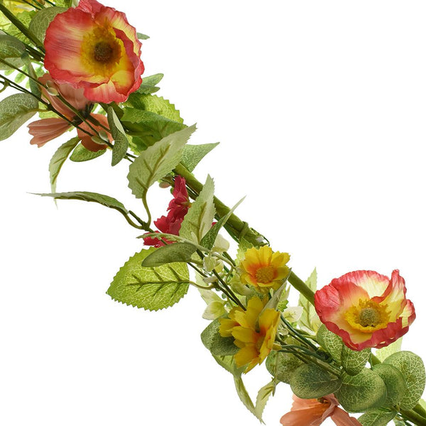 Artificial Poppy Garland, 5-Yard