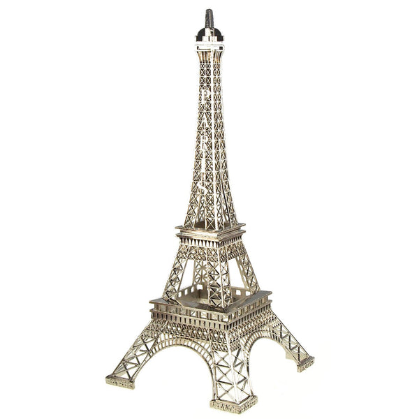12-Pack, Metal Eiffel Tower Paris France Souvenir, 20-inch, Silver