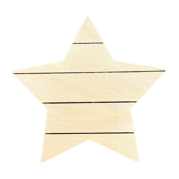 DIY Wood Star Pallet Box Wall Decor, Natural, 12-Inch