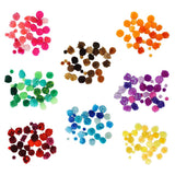 Colorful Craft Pom Poms Mix, Assorted Sizes, 30-Piece