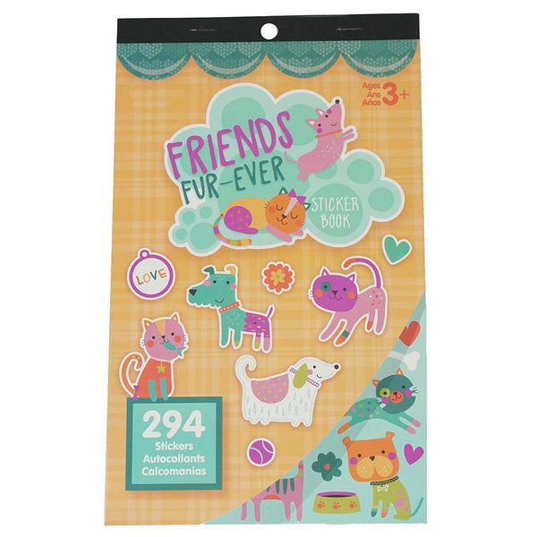 Pet Friends Craft Sticker Book Assortment, 294-Piece