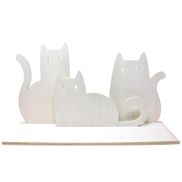 DIY Wooden Cats Hanging Shelf, Natural, 18-Inch