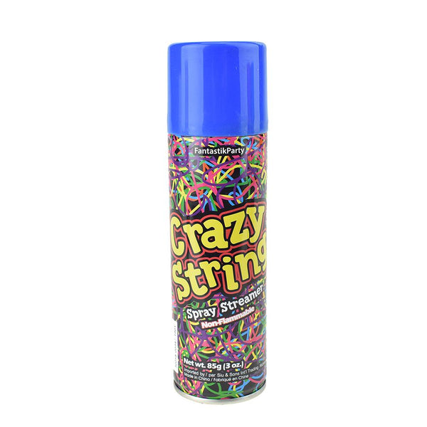 Crazy Party String Spray, 6-1/4-Inch, 3-oz
