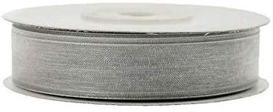 Sheer Organza Ribbon, 5/8-inch, 25-yard, Silver