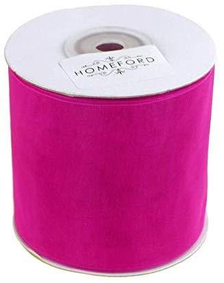 Plain Sheer Organza Ribbon, 2-3/4-inch, 25 Yards, Fuchsia