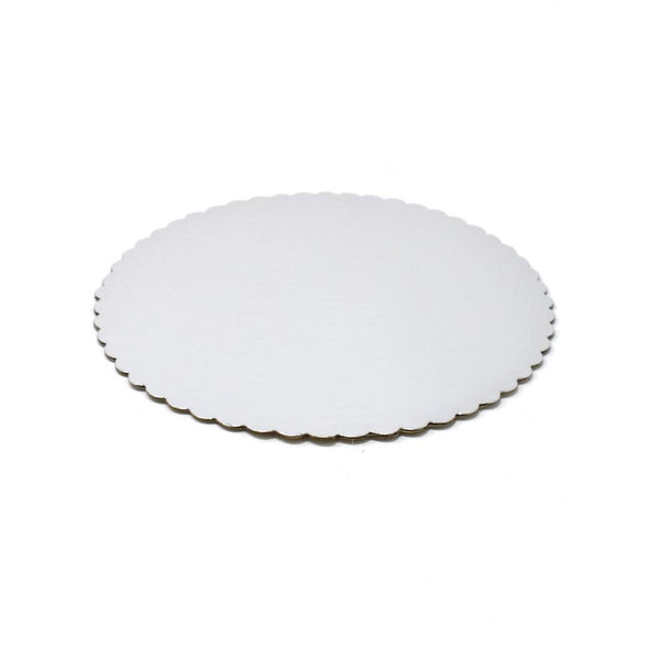 Round Scalloped Cake Circles, Silver, 10-Inch, 6-Piece