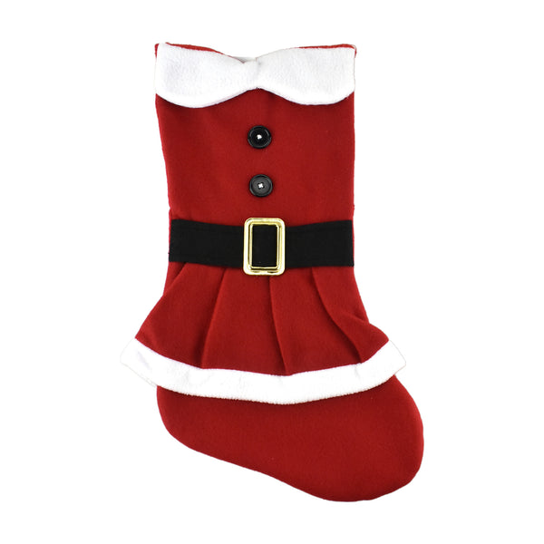 Mrs. Claus Santa Fleece Christmas Stocking, 18-Inch
