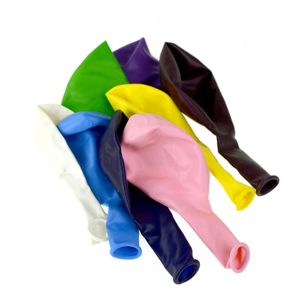 12-Pack, Assorted Color Latex Balloons, 1/4-Pound