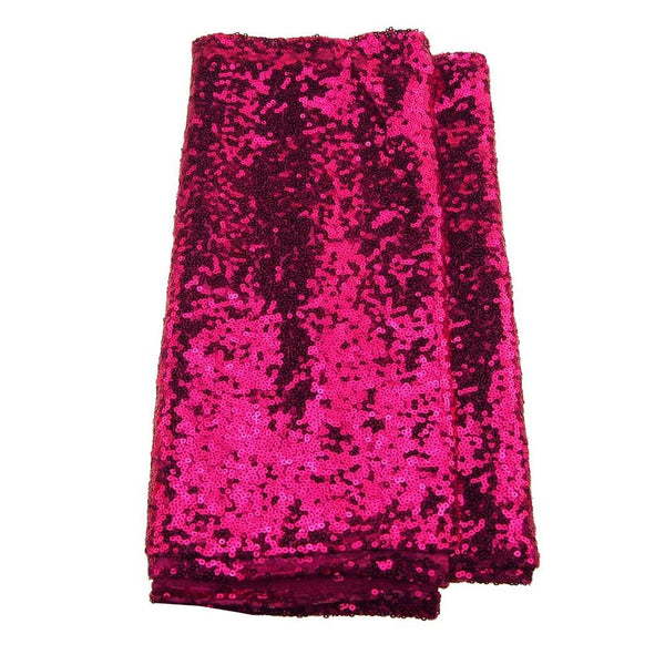 12-Pack, Sparkling Sequins Fabric Table Runner, 14-Inch x 108-Inch, Fuchsia