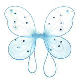 12-Pack, Organza Nylon Butterfly Wings with Glitter, 12-Inch