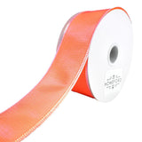 Two Toned Shiny Satin Wired Ribbon, 1-1/2-Inch, 10-Yard