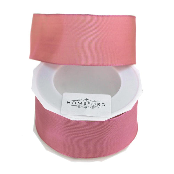 Taffeta Wired Ribbon, Made in Germany, 1-1/2-Inch, 10 Yards, Mauve