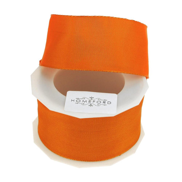 Taffeta Wired Ribbon, Made in Germany, 1-1/2-Inch, 10 Yards, Tangerine