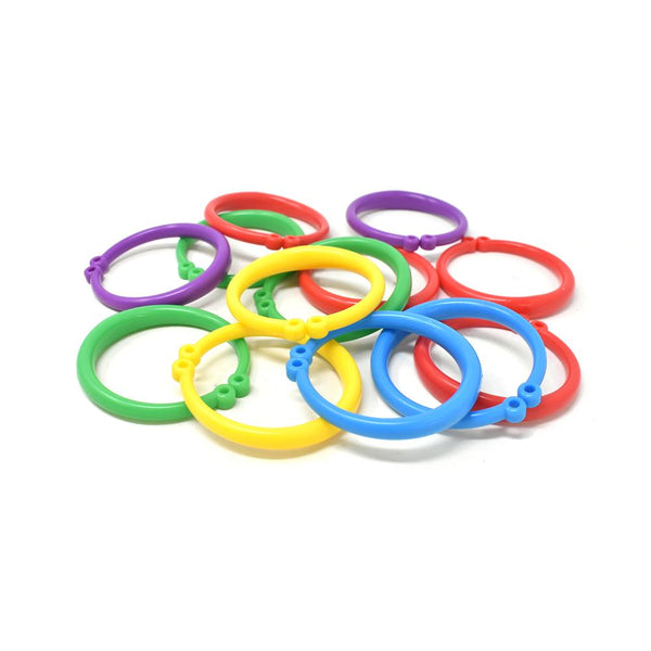 Plastic Ring Balloon Weights, 3-Inch, 25-Piece