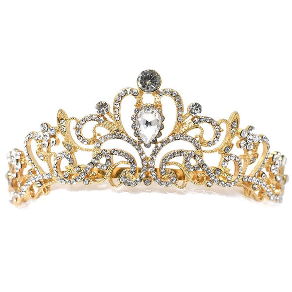 Floral Flourish Jeweled Tiara, 5-Inch