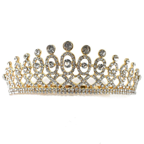 Classic Regal Pattern Jeweled Tiara, 5-Inch