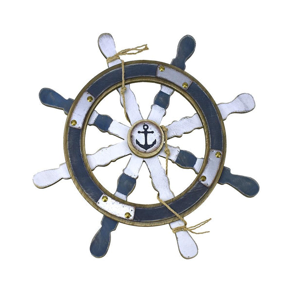 12-Pack, Nautical Wood and Metal Ship Wheel, 19-Inch