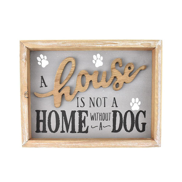 Dog Lover's Message Wooden Frame, 9-1/2-Inch
