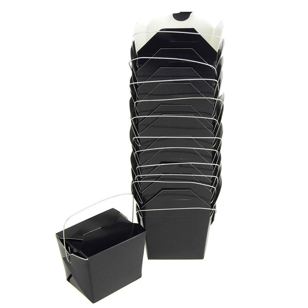Take Out Boxes with Wire Handle, 2-1/2-Inch, 12-Piece, Black