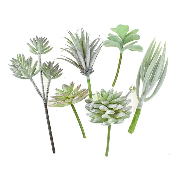 Artificial Aloe Plant Decorations, Assorted Sizes, 6-Piece