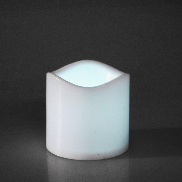 12-Pack, Flameless LED Candle Light, White, 3-inch