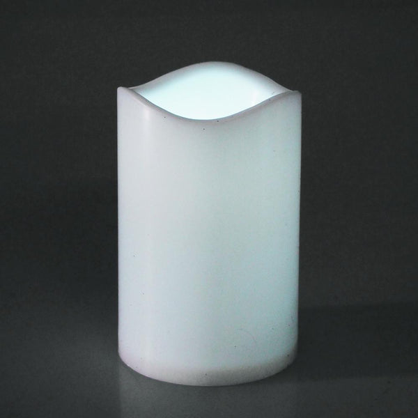 12-Pack, Flameless LED Candle Light, White, 4-1/2-inch