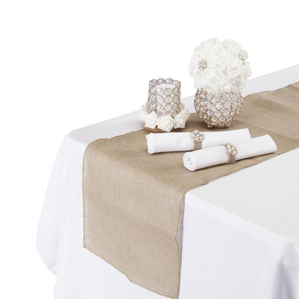 12-Pack, Burlap Table Runner, 14-Inch x 108-Inch