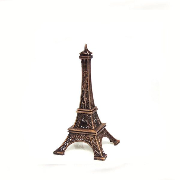 Metal Eiffel Tower Paris France Souvenir, 6-inch, Brown