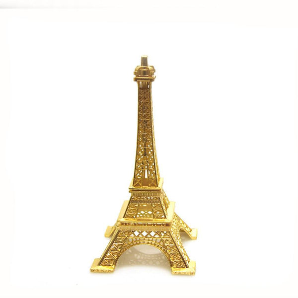 Metal Eiffel Tower Paris France Souvenir, 7-inch, Gold