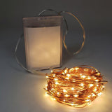100 LED Thin Copper Wire Battery Operated String Lights, 32-Feet