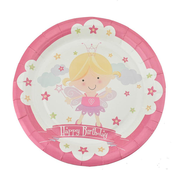 Magical Fairy Birthday Party Paper Plates, 7-Inch, 12-Count